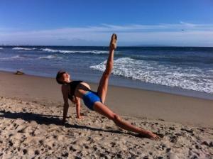 leg pullup on beach